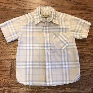 Authentic Burberry Baby Unisex Shirt- Size 9M